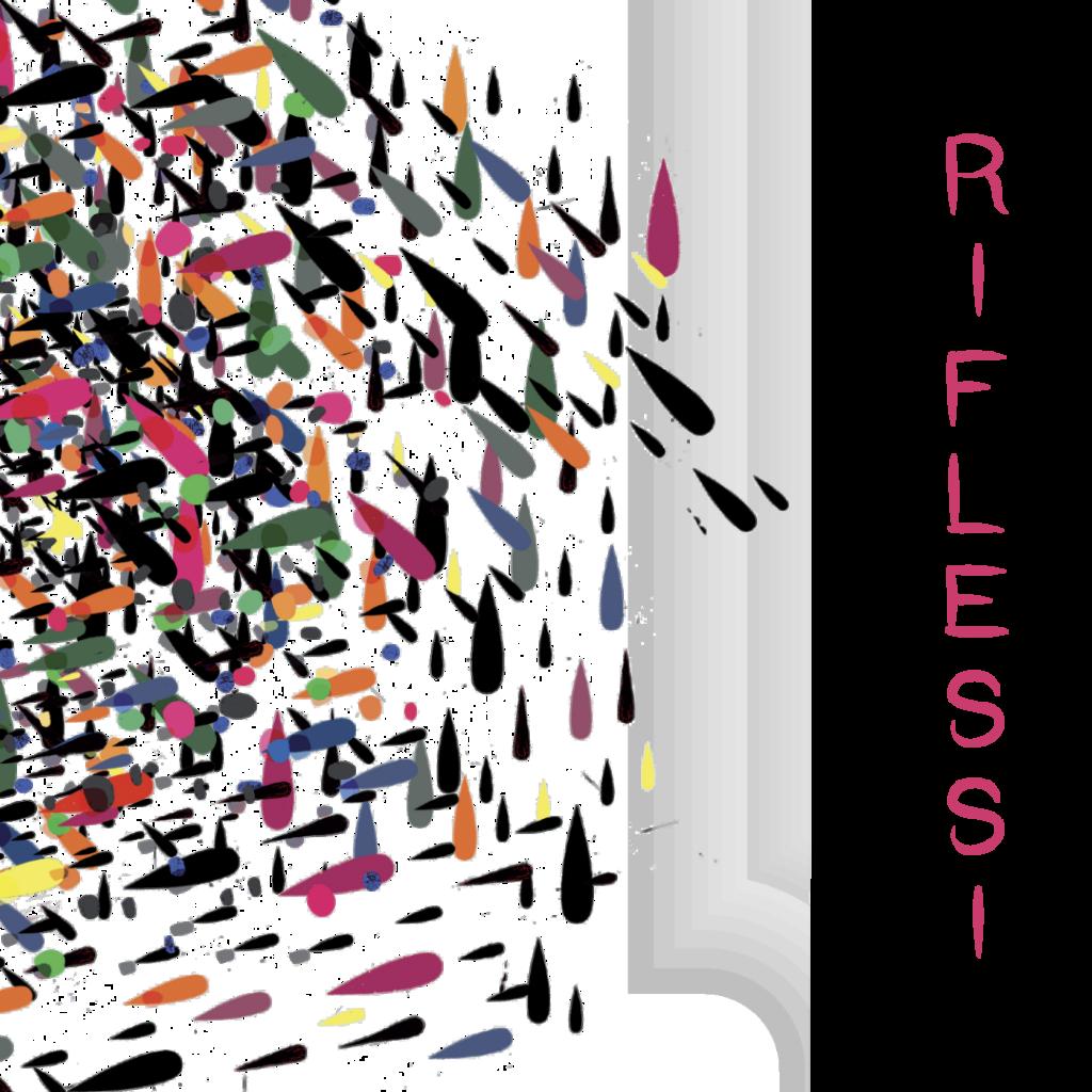 Logo del Festival Riflessi. Insieme di gocce colorate.